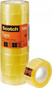 Scotch Pack de 8 Rouleaux de Ruban Adhésif Transparent 19mm x 33m de la marque Scotch image 0 produit