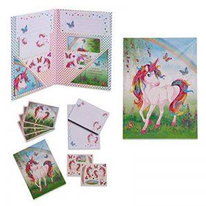 Set de papier à lettres magique licorne - Papeterie pour enfant - Set de Ecriture pour les Fille et garcon - Lucy Locket de la marque Lucy Locket image 0 produit
