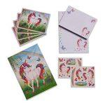 Set de papier à lettres magique licorne - Papeterie pour enfant - Set de Ecriture pour les Fille et garcon - Lucy Locket de la marque Lucy Locket image 3 produit