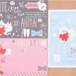 Set de papiers à lettres avec des chats, coeurs, décorations argentées par Q-Lia de la marque Q-Lia image 2 produit
