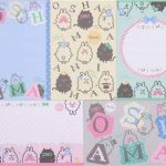Set de papiers à lettres avec des chats rigolos, des lapins, des pois par Q-Lia de la marque Q-Lia image 2 produit
