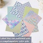 Set papier origami - 120 feuilles - Papier traditionnel japonais à plier comprenant de motifs floraux, animaux, aztèques, géométriques - Créez des fleurs, une grue, une chouette, un dragon, des animaux - Papiers origami pour enfants & adultes de la marque image 4 produit