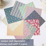 Set papier origami - 120 feuilles - Papier traditionnel japonais à plier comprenant de motifs floraux, animaux, aztèques, géométriques - Créez des fleurs, une grue, une chouette, un dragon, des animaux - Papiers origami pour enfants & adultes de la marque image 3 produit