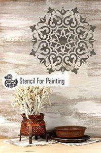 Shimla Mandala indien Mur meubles Sol Pochoir (65cm) de la marque Dizzy Duck Designs image 0 produit
