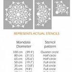 Shimla Mandala indien Mur meubles Sol Pochoir (65cm) de la marque Dizzy Duck Designs image 1 produit