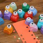 Shineus Lot de 10perforatrices pour papier et 2ciseaux de la marque image 1 produit