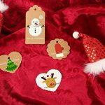 Shintop 100pcs Kraft papier cadeau balises BONBONNIERE dragées rondes étiquettes de cadeau avec gratuit 30mètres Naturel Ficelle de jute (fleur papier étiquette) de la marque Shintop image 3 produit