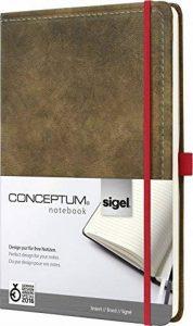 Sigel CO639 Carnet de notes CONCEPTUM, 18,7 x 28 cm, ligné, couverture rigide, aspect cuir brun de la marque Sigel image 0 produit