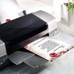 Sigel DP041 Papier à lettre de Noël, boules de Noël, 21 x 29,7 cm, 90g/m², rouge et doré, 100 feuilles de la marque Sigel image 4 produit
