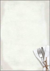 Sigel DP125 Papier à lettres, 21 x 29,7 cm, 90g/m², Menu de restaurant, blanc et gris, 50 feuilles de la marque Sigel image 0 produit
