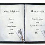 Sigel DP125 Papier à lettres, 21 x 29,7 cm, 90g/m², Menu de restaurant, blanc et gris, 50 feuilles de la marque Sigel image 2 produit