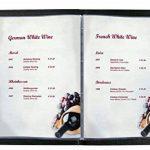 Sigel DP126 Papier à lettres, 21 x 29,7 cm, 90g/m², Carte des vins, blanc et mauve, 50 feuilles de la marque Sigel image 2 produit