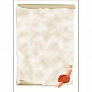 Sigel DP521 Papier à lettres, 21 x 29,7 cm, 185g/m², Parchemin, gris et rouge, 12 feuilles de la marque Sigel image 0 produit