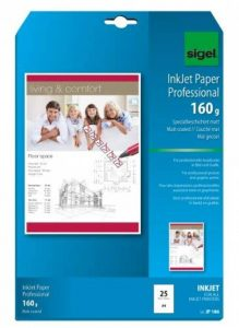Sigel IP186 Papier professionnel d'imprimante jet d'encre, format A4 (21 x 29,7 cm), 25 feuilles de la marque Sigel image 0 produit