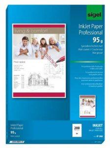 Sigel IP288 Papier professionnel d'imprimante jet d'encre, format A4 (21 x 29,7 cm), 200 feuilles de la marque Sigel image 0 produit