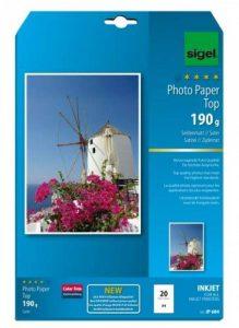 Sigel IP684 Papier photo professionnel, jet d'encre, mate satiné format A4 (21 x 29,7 cm), 190g/m², 20 feuilles de la marque Sigel image 0 produit