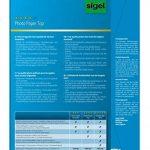 Sigel IP684 Papier photo professionnel, jet d'encre, mate satiné format A4 (21 x 29,7 cm), 190g/m², 20 feuilles de la marque Sigel image 1 produit