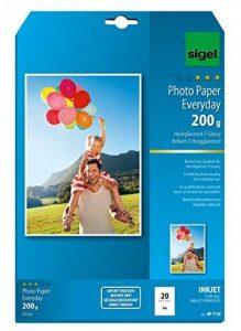 Sigel IP710 Papier photo Everyday jet d'encre, ultra brillant, format A4 (21 x 29,7 cm), 200 g/m², 20 feuilles de la marque Sigel image 0 produit