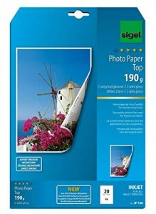 Sigel IP720 Papier photo jet d'encre, ultra brillant, impression recto-verso, format A4 (21 x 29,7 cm), 190g/m², 20 feuilles de la marque Sigel image 0 produit