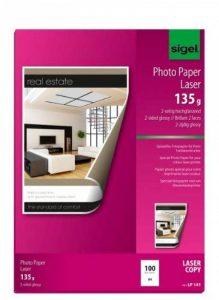 Sigel LP141 Papier photo laser/copieur, A4, 135 g, 100 feuilles de la marque Sigel image 0 produit