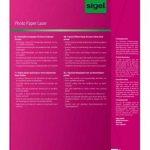 Sigel LP141 Papier photo laser/copieur, A4, 135 g, 100 feuilles de la marque Sigel image 1 produit