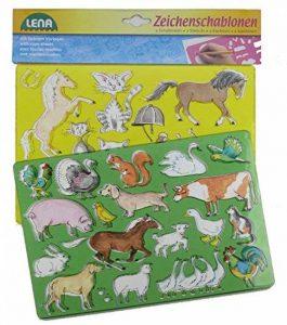 SIMM Spielwaren Lena 65767Dessin Pochoir Pochoir de cheval/Chat, 26x 19cm, Lot de 2 de la marque SIMM Spielwaren image 0 produit