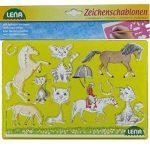 SIMM Spielwaren Lena 65767Dessin Pochoir Pochoir de cheval/Chat, 26x 19cm, Lot de 2 de la marque SIMM Spielwaren image 2 produit