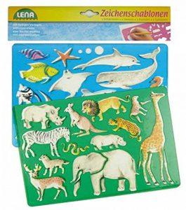 SIMM Spielwaren Lena 65768signe–Pochoir Afrique et animaux marins, Lot de 2, env. 26x 19cm de la marque SIMM Spielwaren image 0 produit