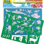 SIMM Spielwaren Lena 65768signe–Pochoir Afrique et animaux marins, Lot de 2, env. 26x 19cm de la marque SIMM Spielwaren image 1 produit