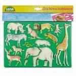 SIMM Spielwaren Lena 65768signe–Pochoir Afrique et animaux marins, Lot de 2, env. 26x 19cm de la marque SIMM Spielwaren image 2 produit