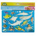 SIMM Spielwaren Lena 65768signe–Pochoir Afrique et animaux marins, Lot de 2, env. 26x 19cm de la marque SIMM Spielwaren image 3 produit
