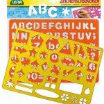 SIMM Spielwaren Lena 65774–2caractères Pochoir Alphabet/chiffres et caractères, env. 26x 19cm de la marque SIMM-Spielwaren image 1 produit