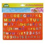 SIMM Spielwaren Lena 65774–2caractères Pochoir Alphabet/chiffres et caractères, env. 26x 19cm de la marque SIMM-Spielwaren image 2 produit