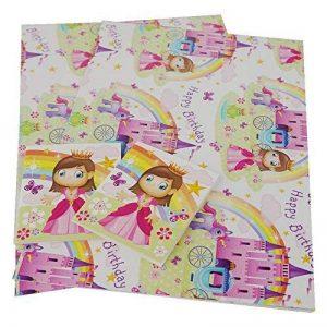 Simon Elvin Lot de 2Papier cadeau Cadeau Rainbow Unicorn Girl Happy Birthday Princess de la marque Card and Party Store image 0 produit