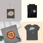 SKULLPAPER Papier Transfert Textile Tshirt / Textile Noirs ou Foncés / y compris 200 modèles de motifs / A4 / pour Inkjet Imprimante / 8 feuilles de la marque Skullpaper image 4 produit