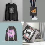 SKULLPAPER Papier Transfert Textile Tshirt / Textile Noirs ou Foncés / y compris 200 modèles de motifs / A4 / pour Inkjet Imprimante / 8 feuilles de la marque Skullpaper image 3 produit
