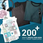 SKULLPAPER Papier Transfert Textile Tshirt / Textile Noirs ou Foncés / y compris 200 modèles de motifs / A4 / pour Inkjet Imprimante / 8 feuilles de la marque Skullpaper image 2 produit