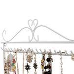 Songmics porte bijoux colliers, bracelets présentoir de boucles d'oreilles blanc JDS023W de la marque Songmics image 4 produit