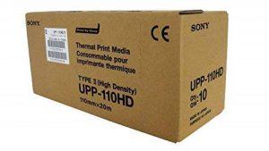 SONY UPP110HD Rouleaux de papier thermique haute densité pour imprimantes médicales en noir et blanc - A6 (110mm x 20m) de la marque Sony image 0 produit