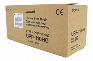 SONY UPP110HG Rouleaux de papier thermique haute brillance pour imprimantes médicales en noir et blanc - A6 (110mm x 18m) de la marque Sony image 0 produit