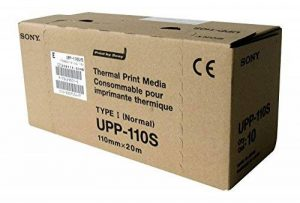 SONY UPP110S Rouleaux de papier thermique de haute qualité pour imprimantes médicales en noir et blanc - A6 (110mm x 20m) de la marque Sony image 0 produit