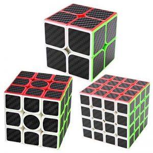 Speed Cube Ensemble Coolzon® Nouveau Cubo Autocollant de Carbone Fibre Ultra Rapide de la marque Coolzon image 0 produit