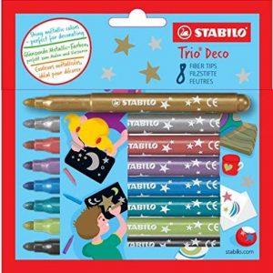 STABILO Trio Déco - Étui carton de 8 feutres - Couleurs metallisées de la marque STABILO image 0 produit