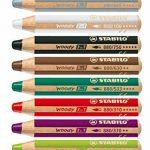 Stabilo woody 3en 1multifonction crayon avec taille-crayon et Pochoir–Couleurs assorties (Lot de 10) de la marque STABILO image 1 produit