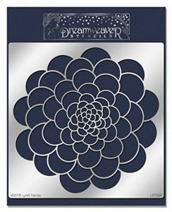 Stampendous Dreamweaver Pochoir en métal 16,5cm x 22,8cm, Zen Fleur de la marque Stampendous image 0 produit