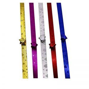 Star Origami 560 feuilles nacrées à la main matériel Origami 5 couleurs de la marque Black Temptation image 0 produit