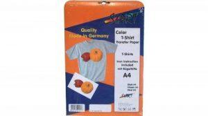 Start-Europe - 20 Feuilles DIN A4 Super Film transfert Jet d'encre pour T-Shirts (tissus clairs) - Transparents transferts à imprimer sur tissus blancs/couleurs clairs comme T-Shirts, Basecaps, Sweatshirts, Sacs cottoniers etc. - convient pour toutes sort image 0 produit