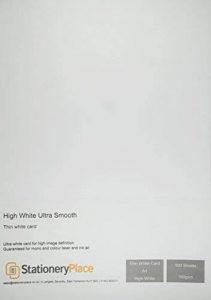 Stationery Place - Carton / Carte fin A4 160gm - Extra Blanc Ultra Doux - Pack de 100 feuilles de la marque Stationery Place Ultra White image 0 produit