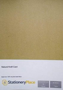 Stationery Place - Carton Papier Kraft Naturel Marron Recyclé - Fin - A4 170gm - Pack de 50 feuilles de la marque Stationery Place Kraft Card image 0 produit