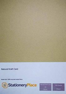 Stationery Place - Papier Kraft Naturel Marron Recyclé- A4 100gm - Pack de 100 feuilles de la marque Stationery Place Kraft Card image 0 produit